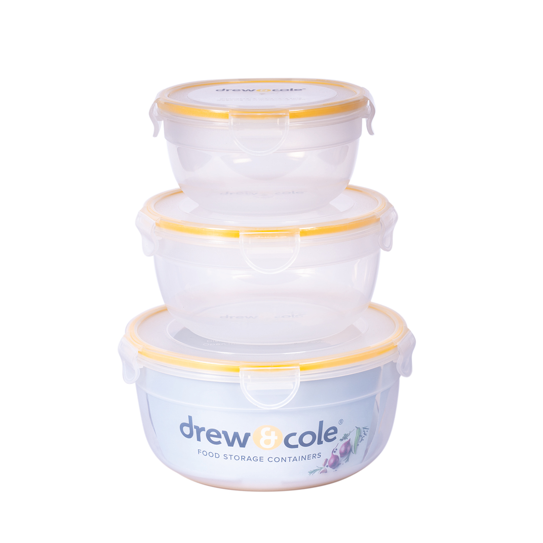 An image of Drew&Cole Food Storage Containers – 3pc Set