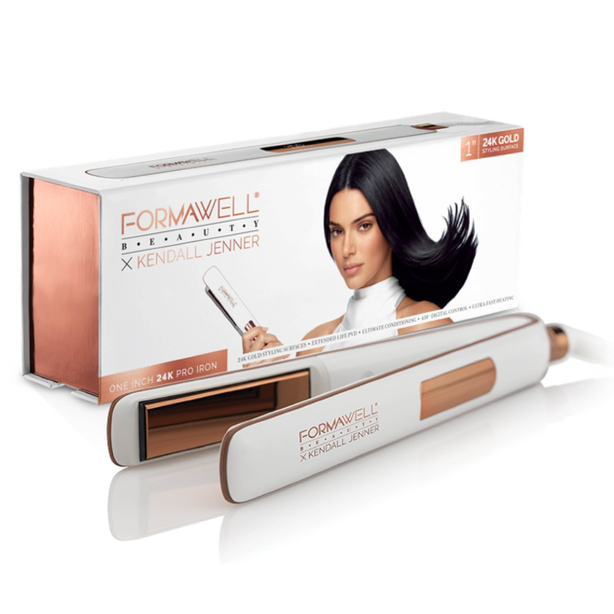 An image of Formawell Beauty X Kendall Jenner Gold Pro Hair Straightener