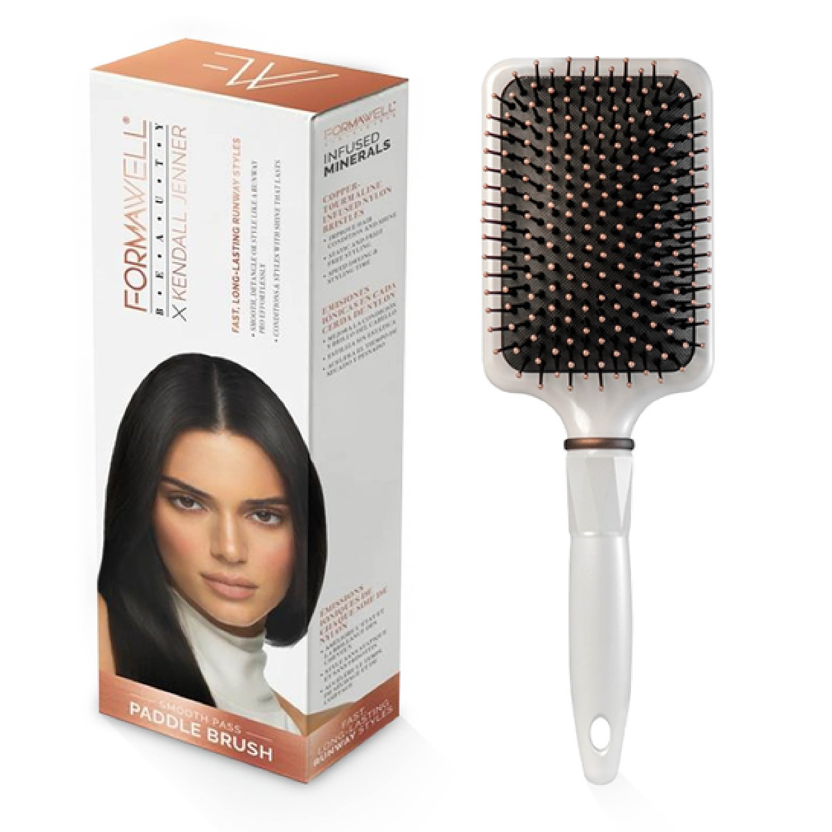 An image of Formawell Beauty X Kendall Jenner Smooth Pass Paddle Brush