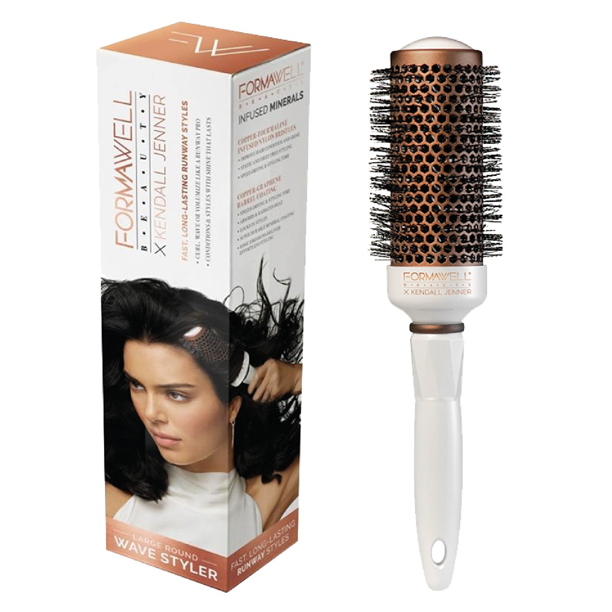 An image of Formawell Beauty X Kendall Jenner Large Round Wave Styler Brush