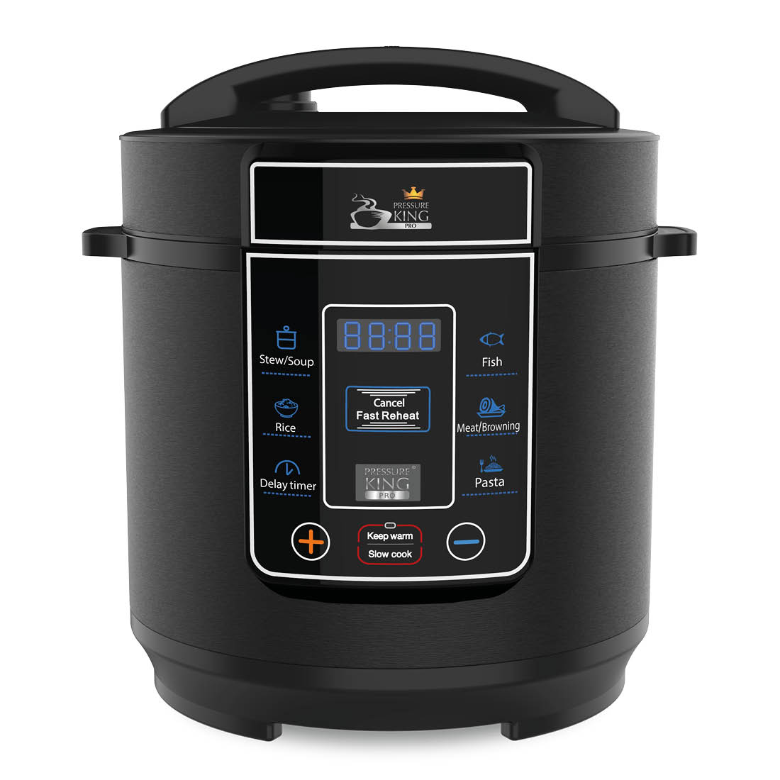 An image of Pressure King Pro (3L) Black– 8-in-1 Digital Pressure Cooker