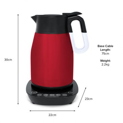 RediKettle Variable Temperature Thermal Kettle 1.7L (Red)