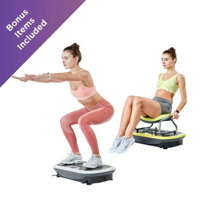 Rock N Fit Vibration Plate Trainer with Exercise Seat by Wonder Core