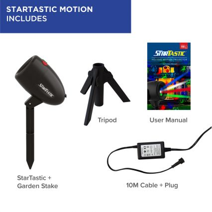 StarTastic Motion Indoor/Outdoor Laser Projector