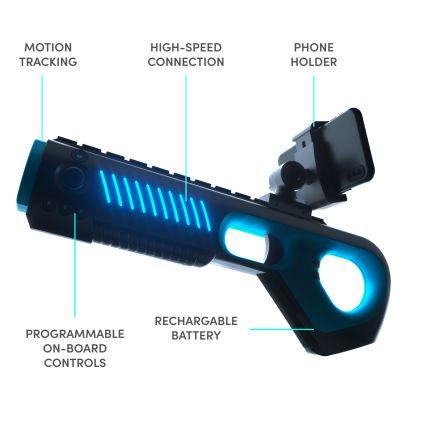 Arkade Virtual Reality Motion Blaster - Black-Blue Pro Edition