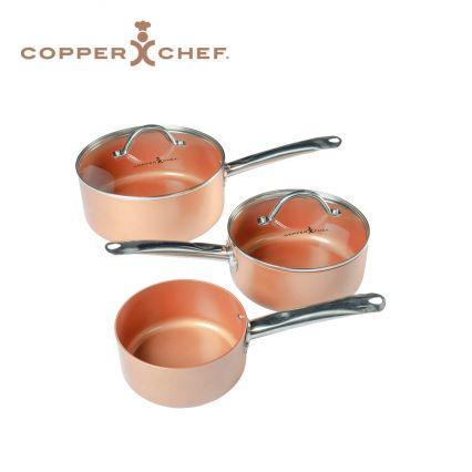 Copper Chef 3pc Saucepan Set