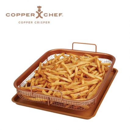 Copper Crisper Baking Tray With Elevated Mesh Crisping