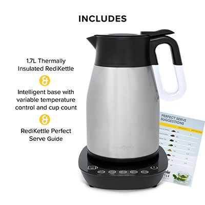 RediKettle Variable Temperature Thermal Kettle 1.7L (Chrome)