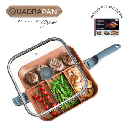 Quadrapan Professional 4 In 1 Multi Cooking Pan With
