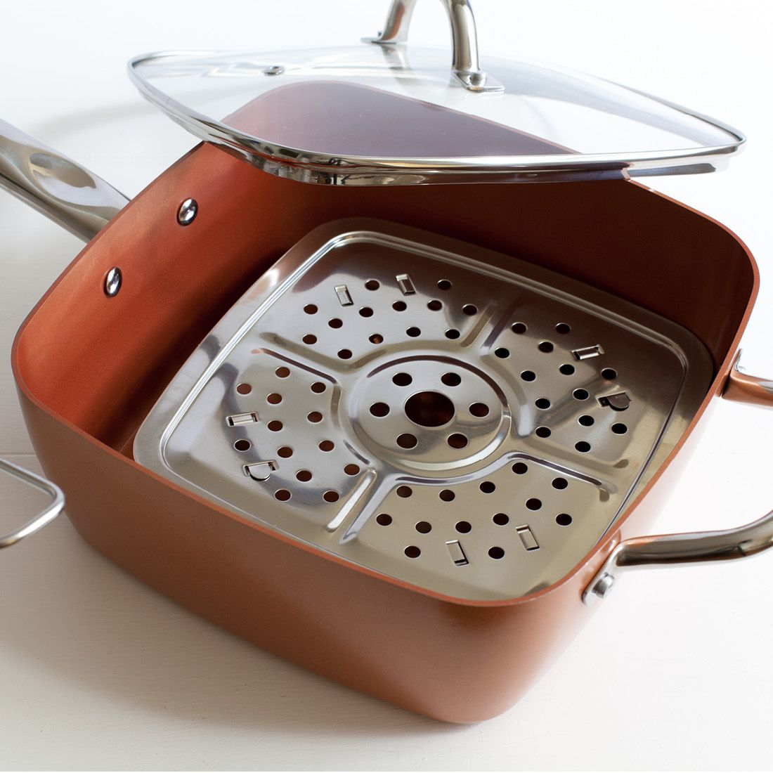 Copper Chef 6 In 1 Non Stick Pan 5 Piece Set As Seen On