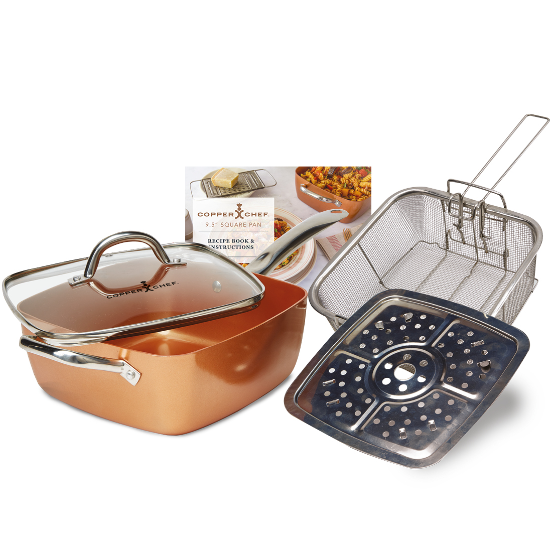 "An image of Copper Chef (5 Piece) Non-Stick 9.5"" Square Pan Kit"