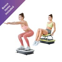 Rock N Fit Vibration Plate Trainer & Exercise Seat (Lime Green)