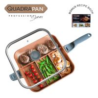 QuadraPan Professional – 4 in 1 Multi Cooking Pan - Charcoal