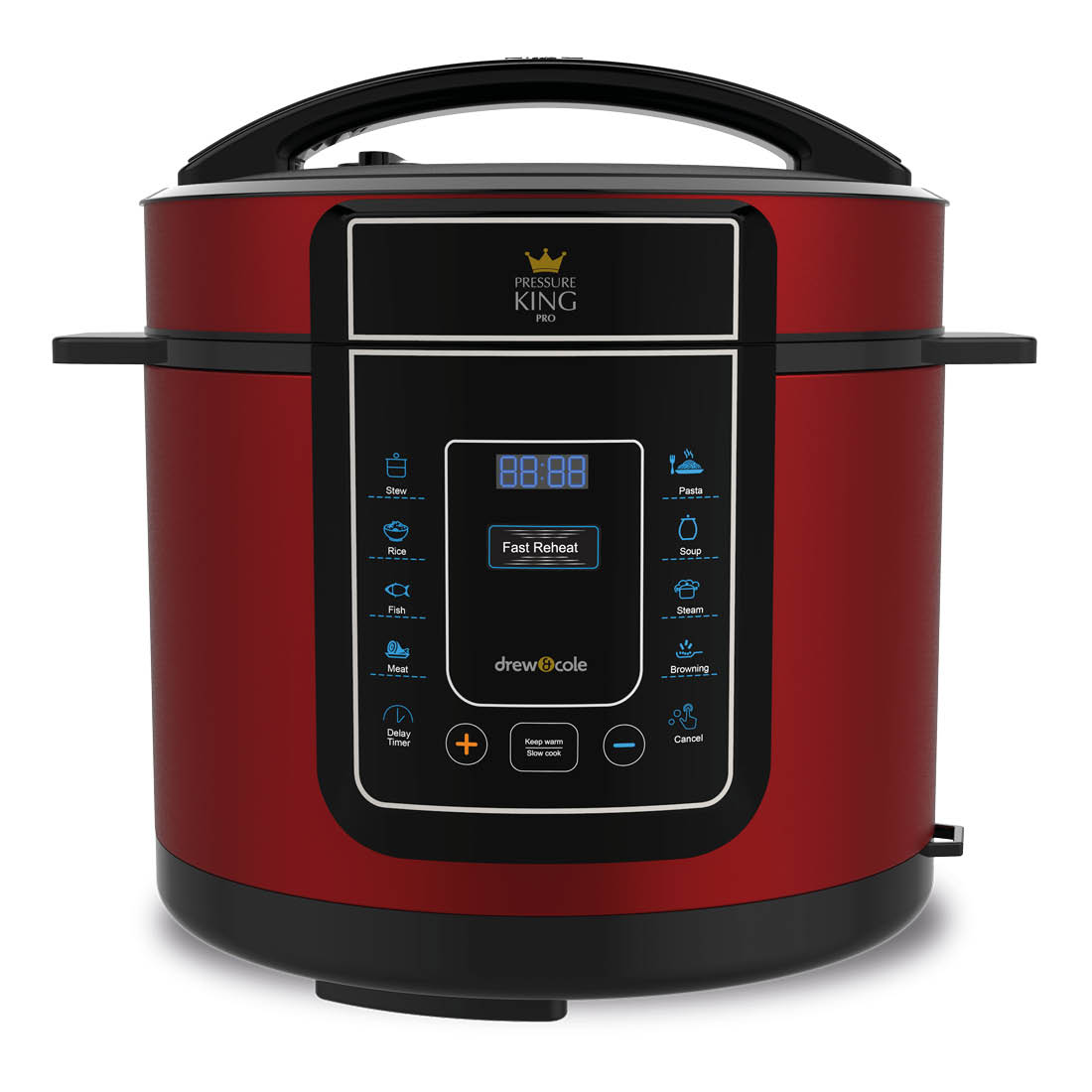 An image of Pressure King Pro 12-in-1 5L Digital Pressure Cooker – Red