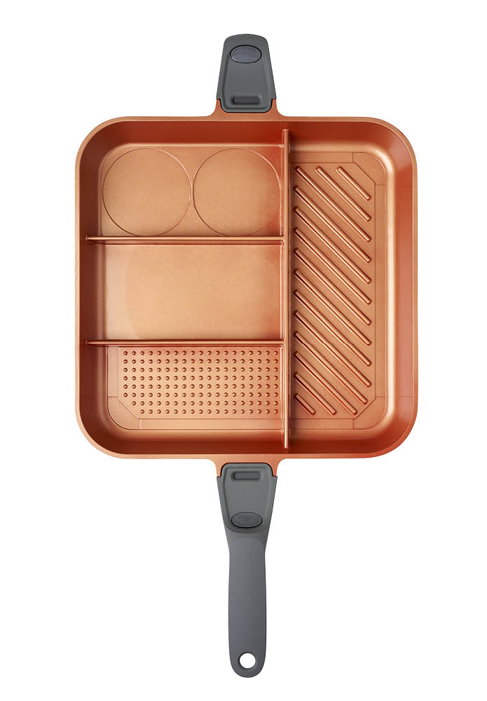 An image of QuadraPan Professional – 4 in 1 Multi Cooking Pan - Copper