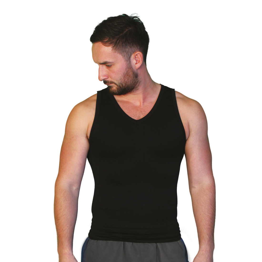 An image of Tone Tee Black Vest XL